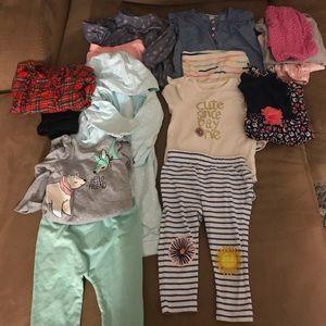 12 month toddler girl bundle sets! 💗